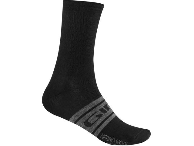 Giro Seasonal Merino Wollen Sokken, black/charcoal clean